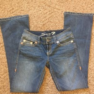 Seven7 bootcut low rise jeans 28x32